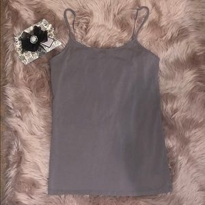 VANITY Gray Spaghetti strap tank top size Large